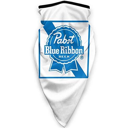 DFGHG Sicherheitsschutz, Gesichtsschutz, abwaschbares Tuch, Gesichtstuch Pabst Blue Ribbon Beer Logo Neck Gaiter Warmer Windproof Gaiter Scarf Outdoor Sports Cover