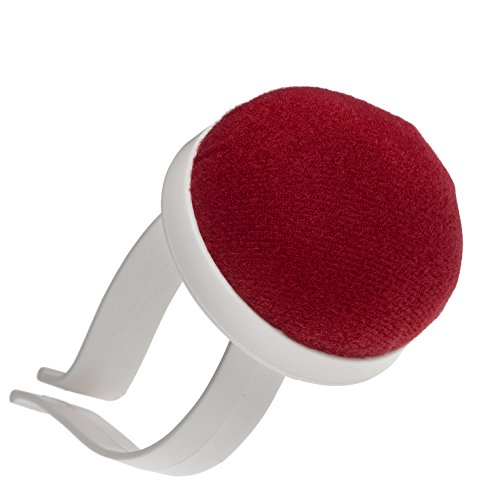 Acerico para brazo, alfiletero para la muñeca en color rojo con brazalete de plástico