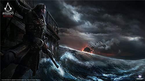 Assassin'S Creed Rogue Adultos Y Niños Rompecabezas 500 Piezas, Rompecabezas Juego De Bricolaje Desafío Cerebral Juego De Rompecabezas, 52Cm X 38Cm