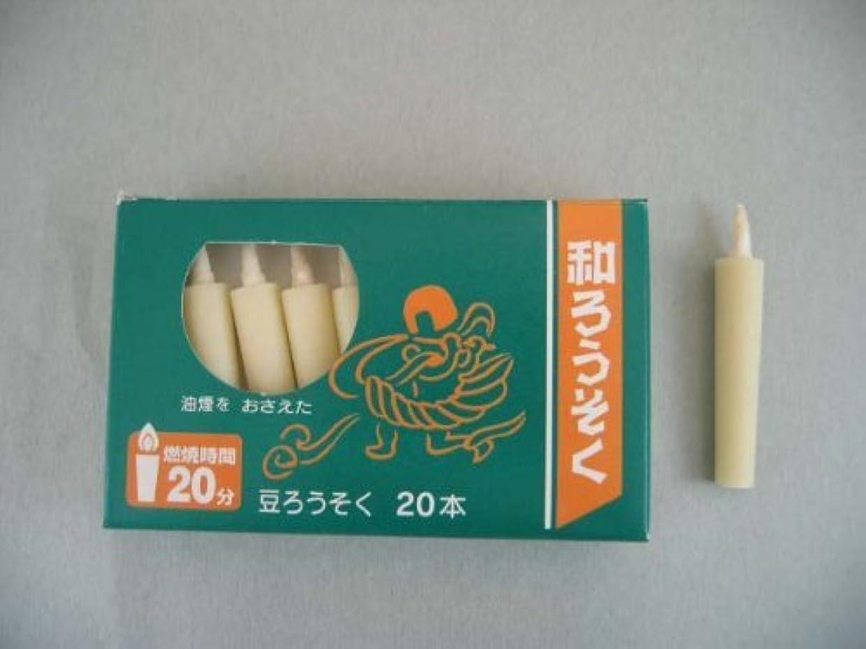 最初マイルドようこそ和ろうそく 型和蝋燭 ローソク 豆型 棒タイプ 白 小箱 20本入り
