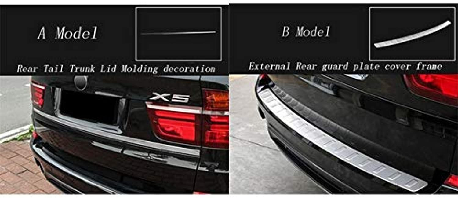 Car Styling auto External Rear Guard Plate Cover Frame Cover Sticker Decoration Frame Trim for BMW X5 E70 Auto Accessories  (color Name  Silver)