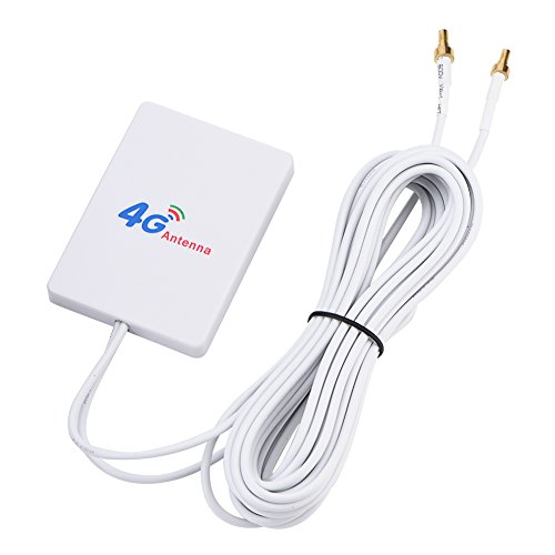 Bewinner 4G 3G LTE-Antenne mit Hohem Gewinn, Mobiler 4G / 3G-Router mit 2,9 m Langem Kabel zur Verbesserung der Reichweite des Mobilfunknetzes und des WLAN-Empfangs TS-9 / SMA / CRC9(CRC9-Stecker)
