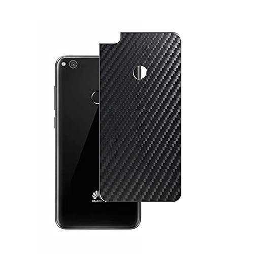 Vaxson 2 Unidades Protector de pantalla Posterior, compatible con HUAWEI P8 lite P8lite / Y!mobile LUMIERE 503HW, Película Protectora Espalda Skin Cover - Fibra de Carbono Negro