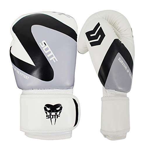 SOTF Leichte Boxhandschuhe MMA Sport Fight Training Bag Handschuhe, schwarz, 8oz