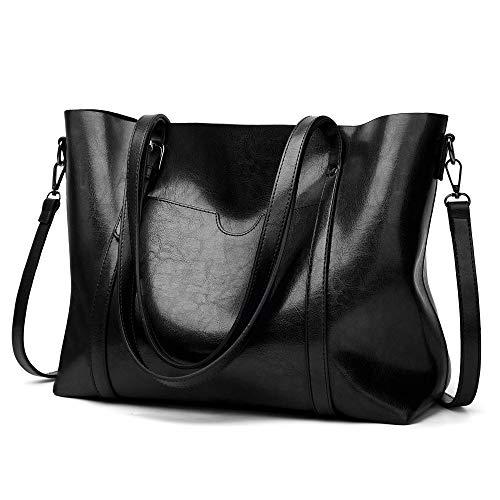 LoZoDo Women Top Handle Satchel Handbags Shoulder Bag Tote Purse Size: L