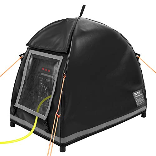 IGAN Small Inverter Generator Tent Cover While Running, Fits for Most 1000~2300 Watts Generators, Portable All-Weather Heavy Duty Tarpaulin Rain Shelter, Black