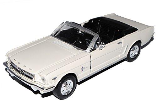 mächtig Motormax Ford Mustang 1964 1/2 Cabrio Cremebeige Modell 1/24 mit…