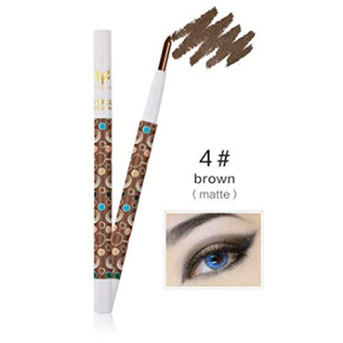 EgBert 1 Pc Surligneur Imperméable Glitter Ombre À Paupières Stylo Mate Fard À Paupières Crayon Outil De Maquillage - # 04