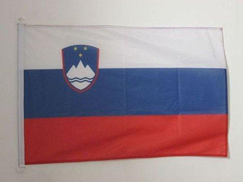 AZ FLAG Flagge SLOWENIEN 90x60cm - SLOWENISCHE Fahne 60 x 90 cm Aussenverwendung - flaggen Top Qualität