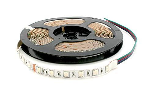 Rouleau 5 mètres bande 300 LED 5050 SMD RVB 5 m 24 V avec adhésif double face 3 M Lumière Rouge Vert Bleu usage intérieur