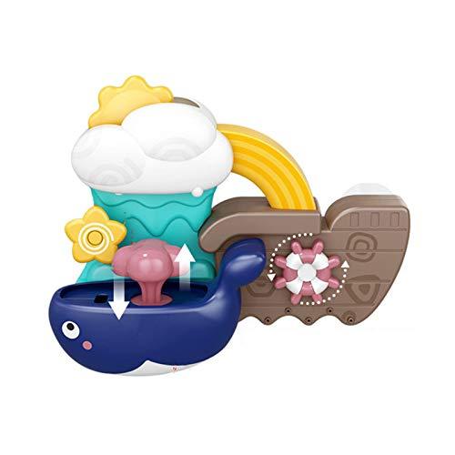 Sonline Juguetes de BaaO Molino de Viento de Agua Juego de Ducha en Aerosol Juguete de Ballena para NiiOs NatacióN BaaO Cascada de BaaO Juguete para NiiOs