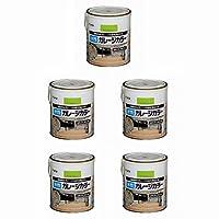 アサヒペン 水性ガレージカラー 1.6L アップルグリーン 5缶セット