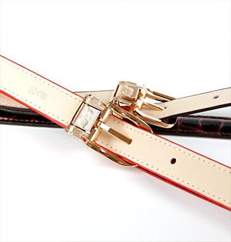 Anthoni Crown A44V00L Ledergürtel, Rot
