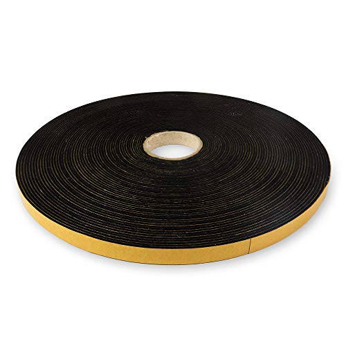 The Felt Store - selbstklebendes Filzband aus schwarzem Filz, 10 mm breit, 1,5 mm dick, 20 m lang