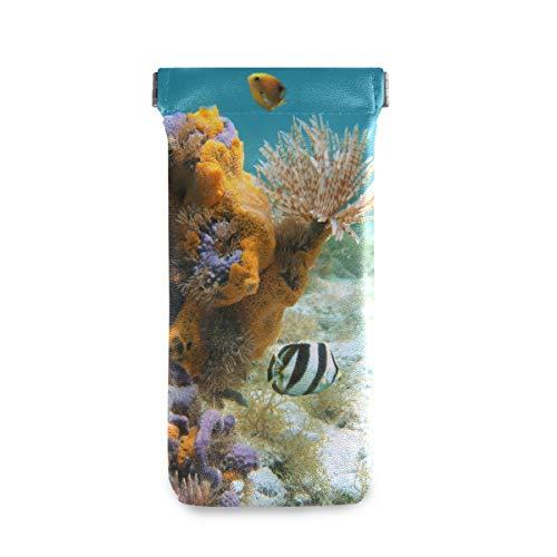 XiangHeFu zonnebril geval onderwater leven duster worm kleurrijke sponzen vis draagbare bril tas bril zak multiuse office houder