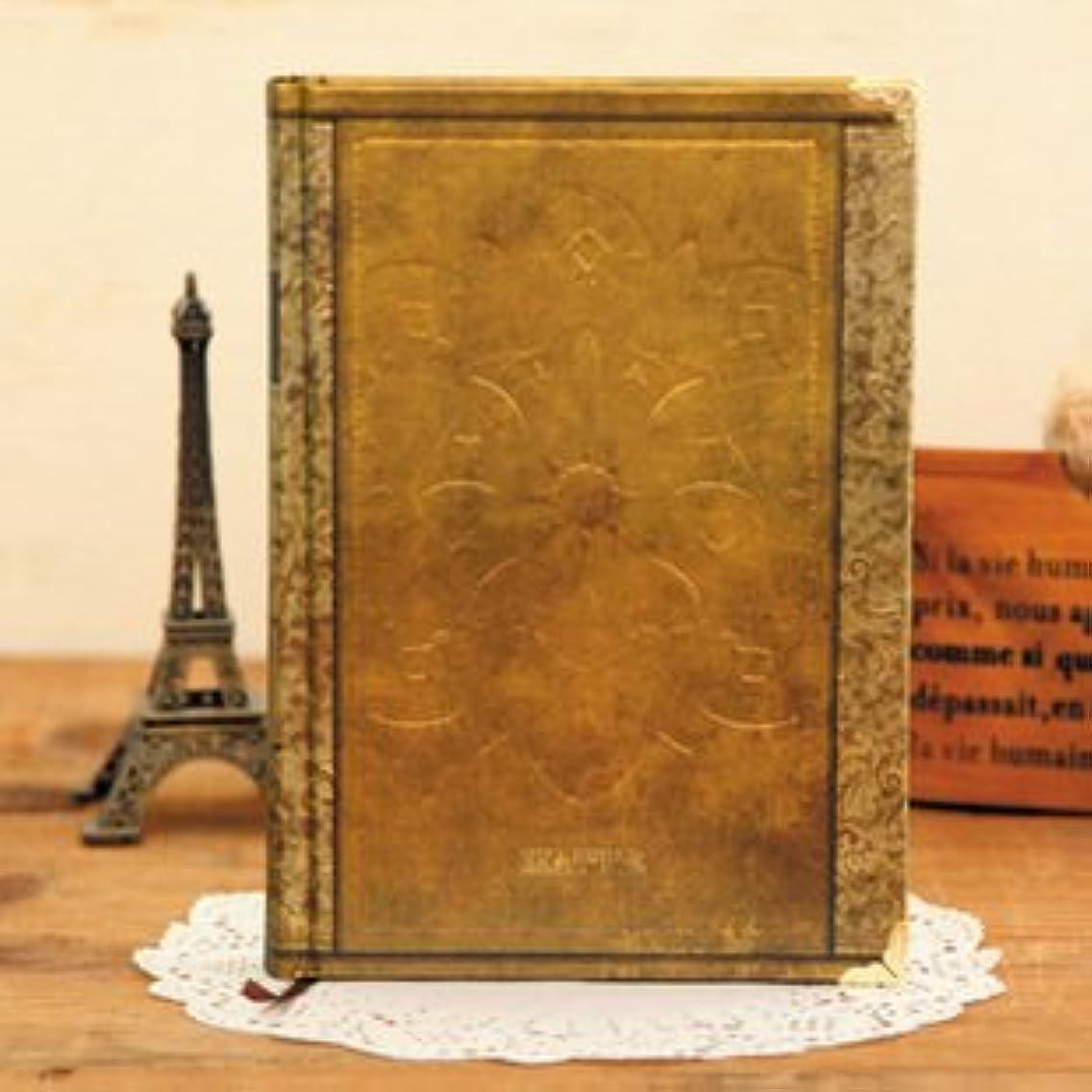 アンティーク ヨーロピアン風 洋書のような 美しい 硬表紙ノート B5サイズ ゴールド