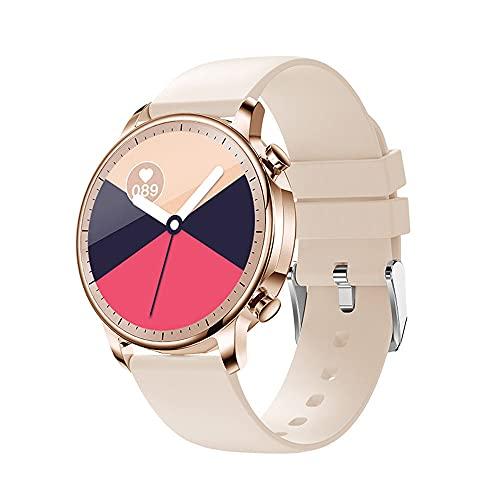 DADAS Smart Watch Men's y Women's Watch 1.28 Pulgadas Pantalla táctil Watch Smart Watch Monitor de frecuencia cardíaca, rastreador de Actividades del podómetro,Oro