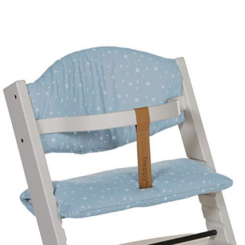 Treppy Sitzkissen für Treppy Hochstuhl aus Baumwolle, blau mit Sternen 1089