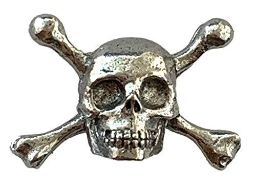Emblems-gifts Pirat Totenkopf und Kreuz Knochen Handgemacht Zinn Revers Anstecknadel + 59mm Knöpfe Abzeichen