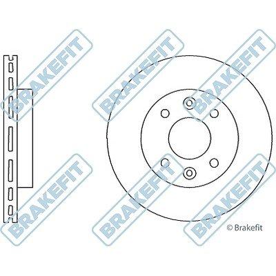 Renault 9 disques de freins avant Dk6102 1.7 D '01/198101/1997 (paire)