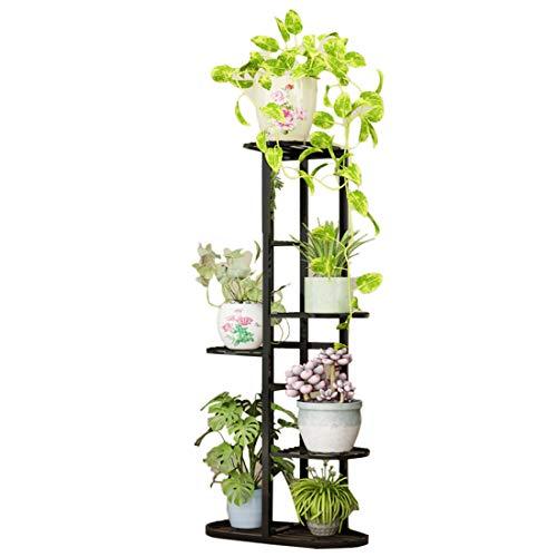 Dittzz Soporte para Plantas, 5 Niveles Escalera para Flores de Metal Estantería...