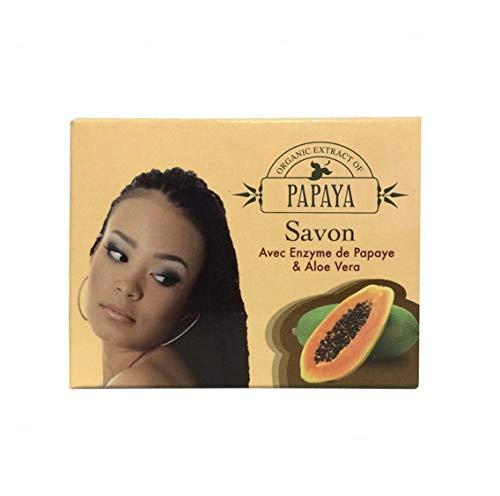 Organic Extract of Papaya Exfoliating Soap 80g - Formulated to Soften Skin, with Papaya and Aloe Vera (Pack of 1)