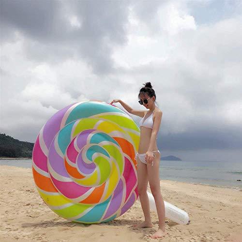 KAIHUA PVC Gonfiabile Lollipop Fila Galleggiante, di Estate All\'aperto sulla Spiaggia per Adulti Caramella Acqua Letto Flottante, 190X150 Centimetri di Acqua Giocattoli