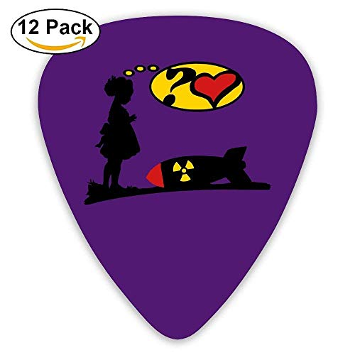 Celluloid Guitar Picks Bass Guitar Plectrums,Print Are You Lovely Girl Love Bomb Comic Atomic Bomb,12 Pack
