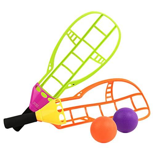 Hakka Deporte de Trackball Tirar Y Atrapar Pelota Lanzar Y Atrapar Pelotas Lanzar Pelota de Juguete Juegos de Patio Trasero para Niños Niños