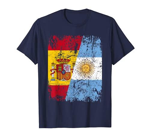 ARGENTINA ESPAÑA BANDERA de la AMISTAD ARGENTINA Camiseta
