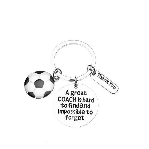 Sportybella Fußballtrainer-Schlüsselanhänger – Geschenk für Fußballtrainer – toller Coach is Hard to Find Schmuck Fußballtrainer