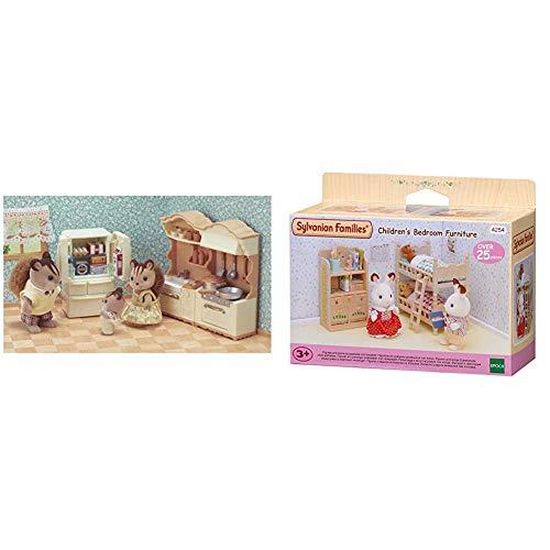 Sylvanian Families - 5341 - Set de Cocina + 4254 - Muebles Habitación Niños