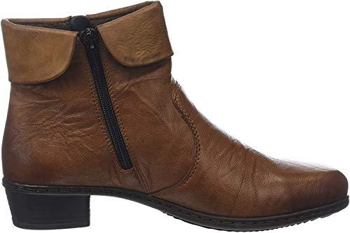 Rieker Y07a8 damskie botki, brązowy - Braun Cuoio Chestnut 22-39 EU