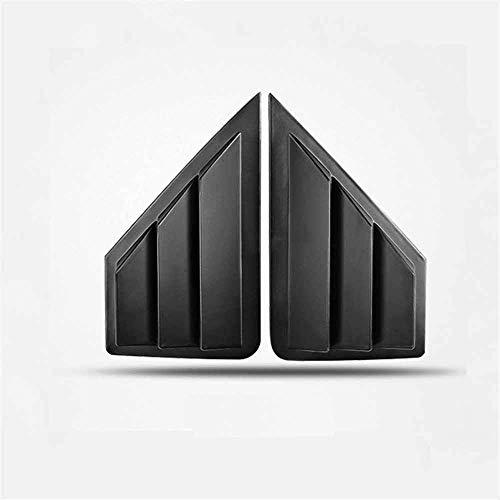 ZHAOOP Auto Heckscheibenabdeckung Fenster Dreieck Jalousien Trimm Fit, Für Toyota C-HR CHR C HR 2013-2018 - Matte_Black