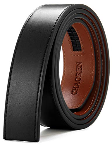 """CHAOREN Ratchet Belt Replacement Strap 1 3/8"""", Genuine Leather Belt Casual for 40MM Slide Click Buckle"""
