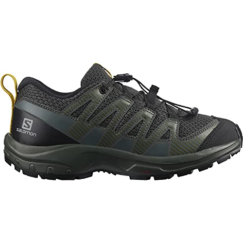 Salomon XA Pro V8 niños Zapatos de trail running, Negro (Black/Urban Chic/Sulphur), 39 EU