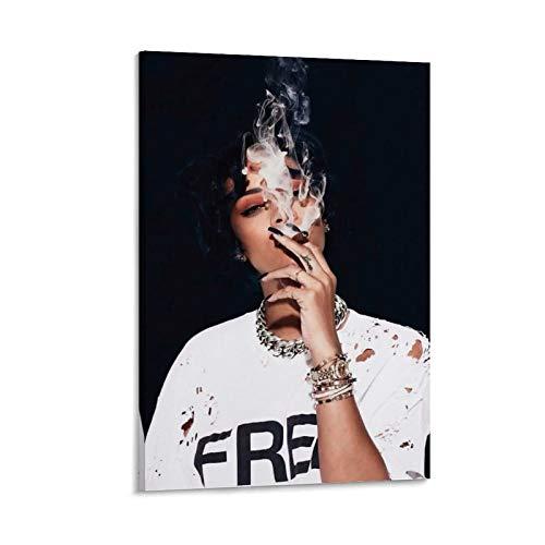 BUGUAN Fondos De Pantalla De Rihanna Leinwand Kunst Poster und Wandkunst Bilddruck Moderne Familienzimmer Dekor Poster 16x24inch(40x60cm)