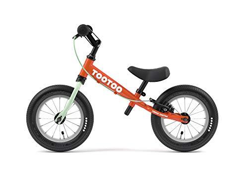 Yedoo TooToo - Laufrad für Kinder ab 1,5 Jahre, ab 85 cm Körperhöhe, mit Luftreifen 12/12 - für Mädchen und Jungen, Höhenverstellbar mit Bremse und Reflexelementen, Zertifiziert, rot-orange