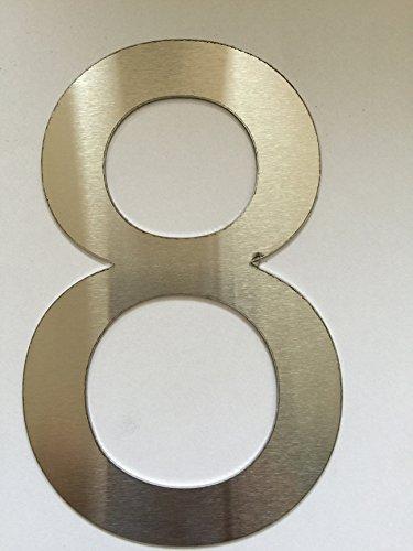 Costruttore del camino (df-shopping) Numero civico Casa Numero/Numeri Numeri Acciaio Inox Spazzolato e ABC - Selezione (8)
