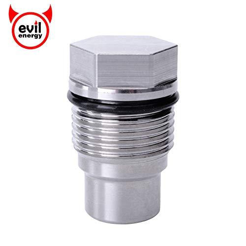 EVIL ENERGY Diesel Fuel Rail Plug Valve Replacement For 07.5-16 Dodge 6.7L Cummins & 04.5-10 GM 6.6L Duramax