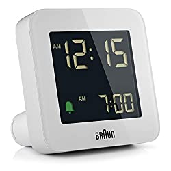 Braun BC09 Digital Travel Clock - White
