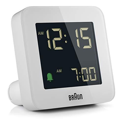 Braun BC09 Digital Travel Clock - White