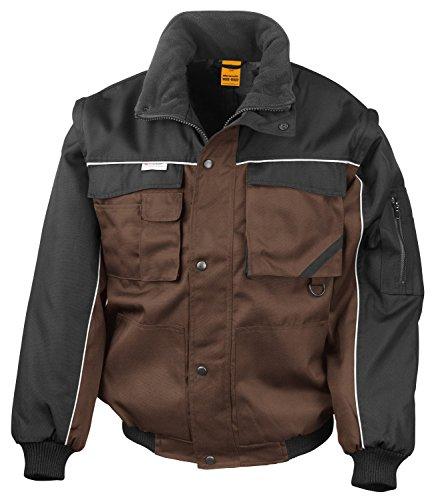 RT71 Workguard Heavy Duty Jacke Arbeitsjacke winddicht wasserabweisend, Farbe:Tan-Black;Größen:M M,Tan-Black