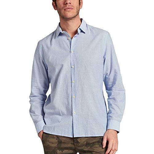 DSTREZZED Reg.-Fit Hemd aus luftigem Seersucker Gewebe blau (646 Lt. Blue) M