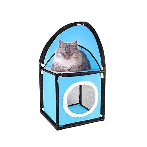 Cueva de gato cubeta litera condominio cama cueva montado tienda de campaña esquina mesita de noche portátil interior