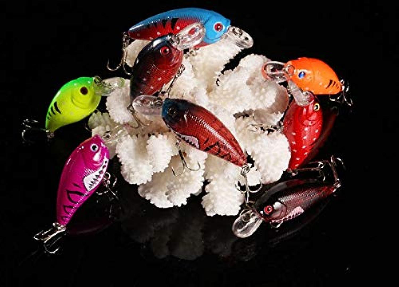 Generic 16pcs crankbaits Hard Plastic Fishing Lures 7CM 9.8G 6  Hooks crankbaits Lures 70mm Lures Eyes 3D Fishing Lures
