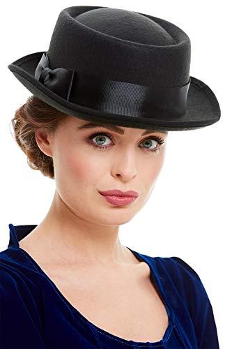 Smiffys 52023 Victoriaanse hoed, Mannen, Zwart