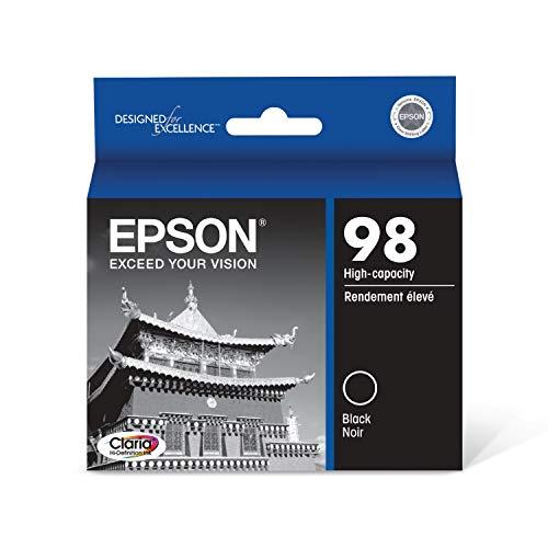 EPSON T098 Claria Hi-Definition Ink Standard Capacity Black Cartridge (T098120) for select Epson Artisan Printers