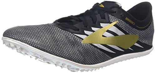 Brooks Elmn8 V4, Zapatillas de Running Unisex Adulto, Multicolor (Black/Gold/White 047), 41 EU