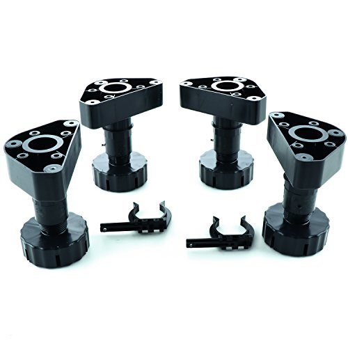 SECOTEC Sockelverstellfüße UNICO Set | Sockel-Höhe: 150 mm | Möbelfüße schwarz | 4 Stück